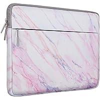 MOSISO Lona Bolsa para 13-13.3 Pulgadas MacBook Pro, MacBook Air, Notebook, Manga de Ordenador Portátil Caja Cubierta, Rosa Patrón de Mármol