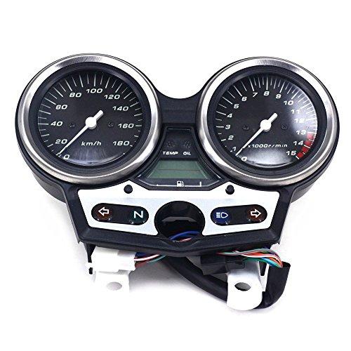FastPro Motorrad Tachometer Kilometerzähler Instrument Tacho Gauge Cluster Meter für Honda Ansaugstutzen CB400 VTEC I