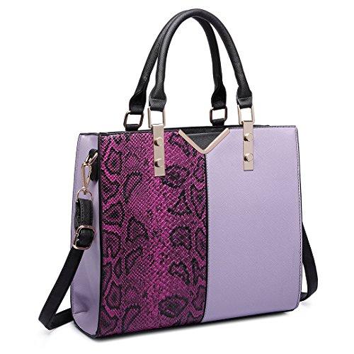Miss Lulu , Sac pour femme à porter à l'épaule 6613 Purple