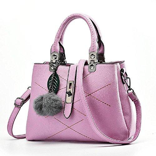CELO sacchetti delle signore informale europea e americana borsa di modo Palla di pelo semplice vendita borsa a tracolla diagonale di alta qualità , red violet