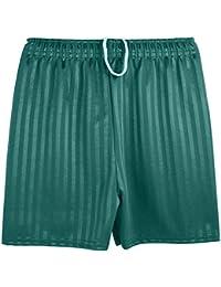 Jóvenes sombra rayas gimnasio deportes juegos de fútbol pantalones cortos