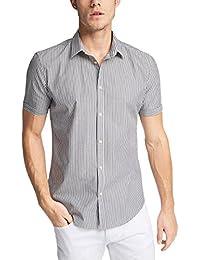 ESPRIT Herren Smoking Hemd Stripe Ss