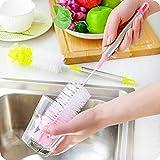 BESTONZON Nylon Flaschenbürste Reiniger mit Edelstahlgriff zum Waschen Babyflasche Wasserflaschen Becher Weinflasche (zufällige Farbe)