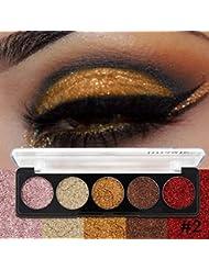 Pallette Fards à Paupière, Moonuy 5 couleurs chatoyantes Glitter Eye Shadow palette de poudre Matte High pigment...