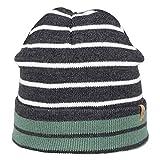 Nordbron 7152C085 Huxley Beanie Mütze Jungen Kinder warme, stylische, mehrfarbige, feine, Kinderstrickmütze, Kindermütze für Jungen mit Streifen,Green Bay