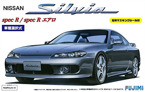 modello di Fujimi 1./2.4. pollici fino serie No.2.4. S1.5. Silvia Spec R / Aero finestra cornice con guarnizione di mascheramento