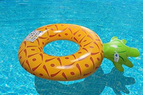 Schwimmreifen Ananas Schwimmring XXL aufblasbar Schwimmhilfe Wasserliege #3516
