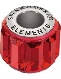 Grand Trou Perles de Verre a enfiler de Swarovski Elements 'BeCharmed Pave' 10.5mm (Siam, Acier affiné), 12 Pièces
