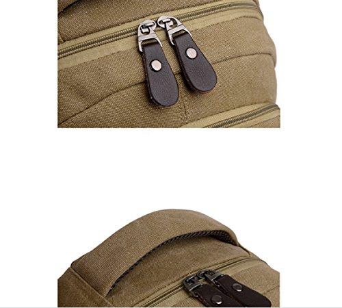 LAIDAYE Schulter Draußen Reisetasche 棕色