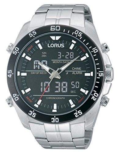 Lorus Watches Herrenuhr Analog-Digital Quarz mit Edelstahlarmband - RW611AX9