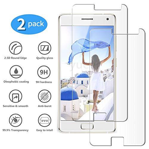 yueer Panzerglas Schutzfolie für Lenovo ZUK Z2 Pro,[Anti- Kratzer] [Ultra Clear] Panzerglasfolie Bildschirmschutzfolie Folie für Lenovo ZUK Z2 Pro.