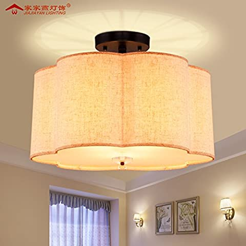 Zqww Ceiling lamp Stile Americano camera da