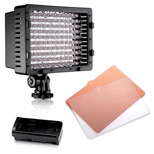 Neewer® CN-126 LED Videoleuchte Beleuchtung Dauerlicht für Kamera oder Digital Video Camcorder (Led Videoleuchte Für Camcorder)