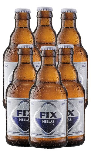 FIX Hellas Bier, 6er Pack (6 x 330-ml) (Bier Six Pack)