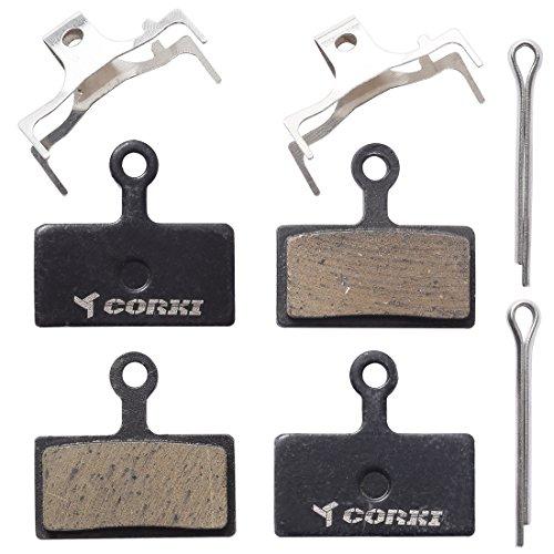 Corki 2 Paia Pastiglie per Freni a Disco Semi-Metallizzato per Shimano M615 M675 M785 M985 M988 XT XTR SLX