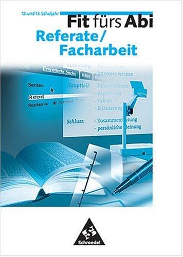 Preisvergleich Produktbild Fit fürs Abi, Fit fürs Abi Referate / Facharbeit