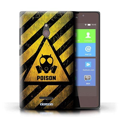 Kobalt® Imprimé Etui / Coque pour Nokia XL / électricité conception / Série Signes de Danger Poison