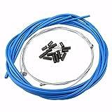 Alomejor Bike Vorne Bremse Hinten Kabel, Mountain Fahrrad Ersatz Bremse Kabel mit Gehäuse Set, Blau