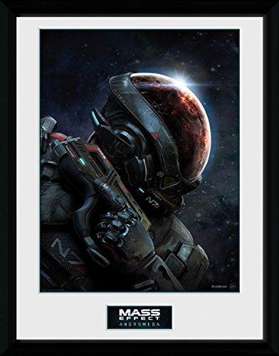 Preisvergleich Produktbild 1art1 103445 Mass Effect - Andromeda,  Key Art Gerahmtes Poster Für Fans Und Sammler 40 x 30 cm