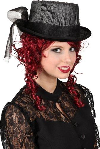 Zylinder Gothic zum Halloween Kostüm Vampirin schwarze Witwe