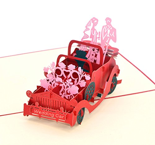 amanti della coppia//SAN Valentino Cards San Valentino regali Medigy vintage Carriage Handmade 3D Pop Up biglietti di auguri biglietti di invito per matrimonio