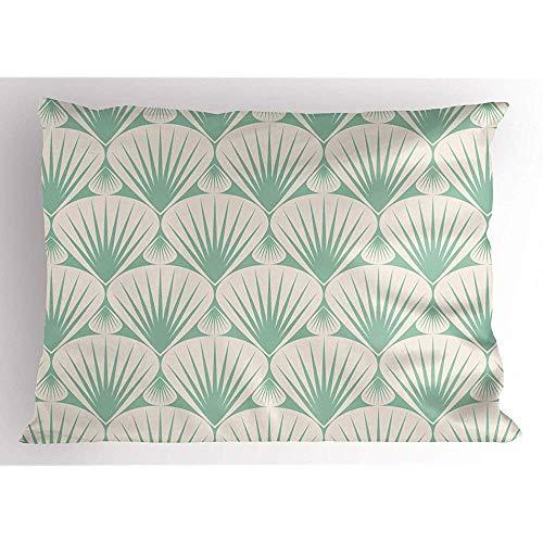 4 Stück 18X18 Zoll Abstrakt Pillow Sham,Art-Natur-Elemente Mit Streifen-Dunstigen Dekorativen Elementen,Hauptdekor-Standard-König Size Printed Pillowcase -