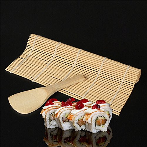 Lilacorp home deco sushi maker kit rice roll mold kitchen diy stampo roller mat rice paddle set new