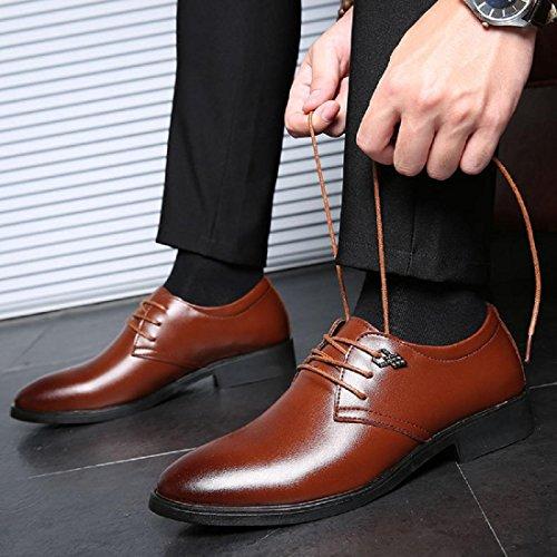 Uomo Autunno Il nuovo traspirante Tempo libero Scarpe di pelle Scarpe casual pompe Tacchi alti Scarpe da lavoro Confortevole Leggero euro DIMENSIONE 38-44 Brown