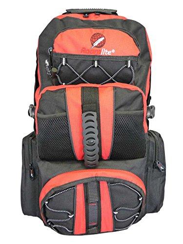 Roamlite Zaino da escursionismo (fino a 45 L), Black Red (Nero) - RL01M Backpack