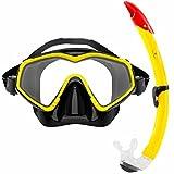 Tauchermaske »DiveMaster« Schwimm-Maske / Swim Mask / Scuba Mask / Schnorchelmaske / Die perfekte Tauchmaske für das Schorcheln / Schnorchelset für Erwachsene und Jugendliche / gelb
