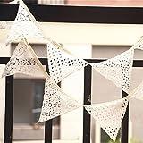 Hrph Neue Triangles-Geburtstags-Party-Spitze Pennant Flagge Banner Hochzeit Home Decor Ereignis Supplies Burlap