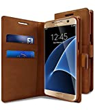 Accessories Innovator Premium Leather Flip Wallet Style Case Flip Cover Only for NEW Samsung Galaxy A5 (2017 Edition) SM-A520 - Dark Brown