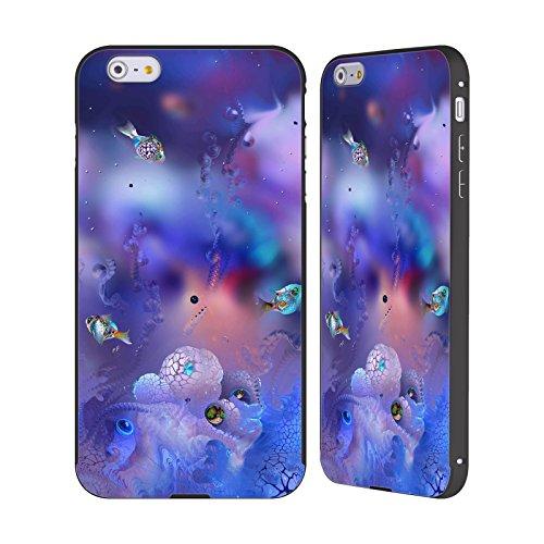Ufficiale Runa Barriera Corallina 2 Vivido Nero Cover Contorno con Bumper in Alluminio per Apple iPhone 5 / 5s / SE Barriera Corallina 2