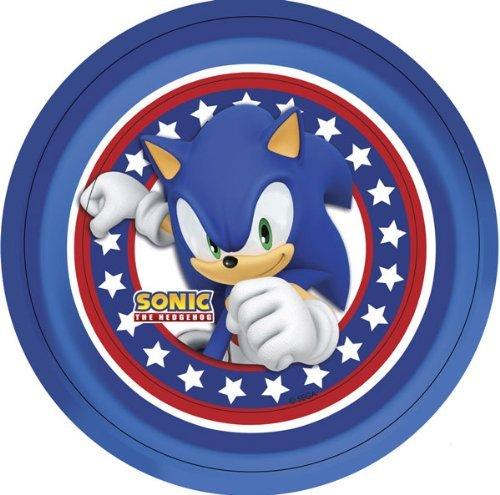 Sonic the Hedgehog Pappteller (8 (Hedgehog Kostüm Sonic)