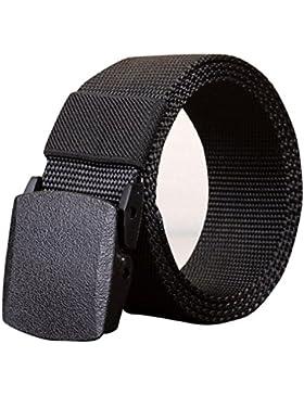 zycShang Men's Outdoor Deportes Cinturón de nylon Lona Cinturón Web Deslumbrante