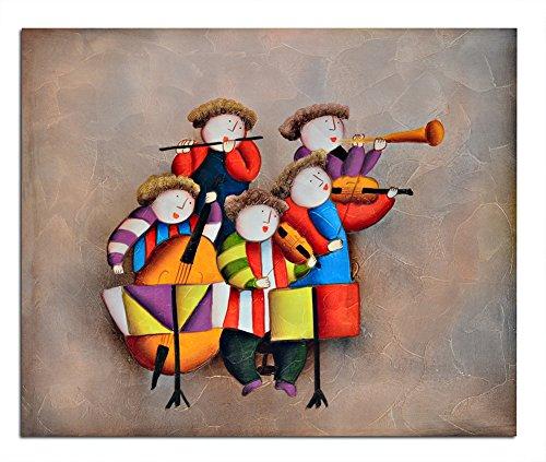 Raybre Art® 50 * 60 cm 100% Dipinti a mano Olio - Quadri su Tela Quadri Astratti Moderni - Decorazione della Parete di Arte Casa Camera dei Bambini, Senza Cornice (Chitarra)