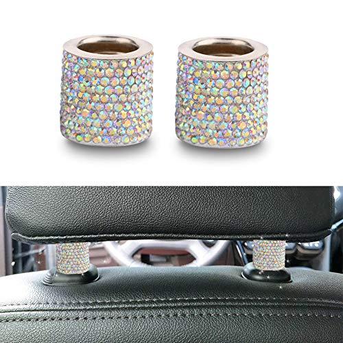 Wawer Auto Deko Diamant Kopfstütze Kragen Auto Innendekoration Zubehör Für Frauen Autoinnenausstattung Auto Charme Für Kopfstütze Kragen (A) -