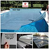 TCLPVC 18/21 Feet Super Guard Reinforced Above Ground Swimming Pool Cover for Frame
