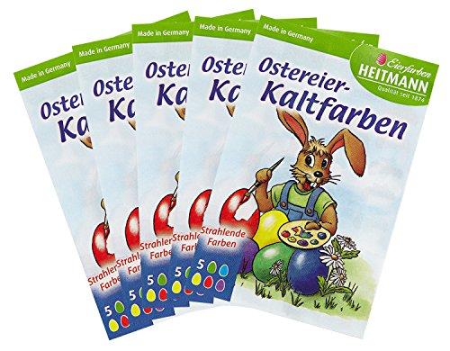 Heitmann Eierfarben 60075AMZ - Ostereier Kaltfarben, 5er Set