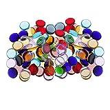 D DOLITY 200g Sortierte Runde Glas Glasmosaik Fliesen Für Kunst DIY Handwerk