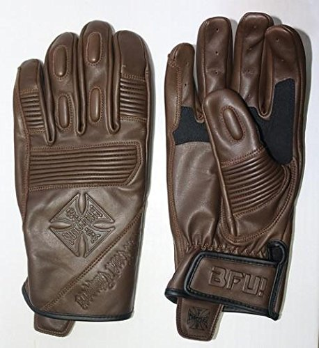 West Coast Choppers Handschuhe BFU Leather Rinding Glove, Größe:XL, Farbe:Tobacco Brown -