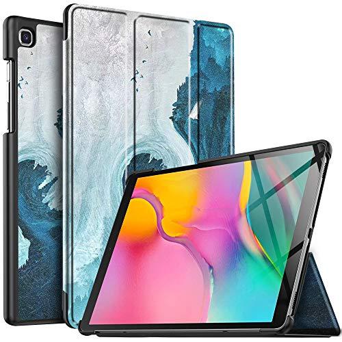 IVSO Hülle für Samsung Galaxy Tab A T515/T510 10.1 2019, Ultra Schlank Slim Schutzhülle Hochwertiges PU mit Standfunktion Ideal Geeignet für Samsung Galaxy Tab A 2019 T515/T510 10.1 Zoll, CH-41