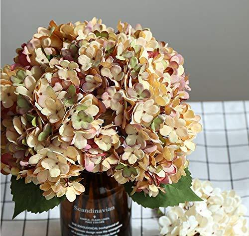 La Mode – Flores artificiales de seda para hortensias de oficina, hogar, banquete, fotografía, decoración, arreglos…