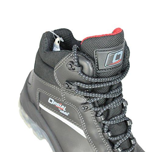 Opsial Step Tec S3 SRC Arbeitsschuhe Sicherheitsschuhe hoch Schwarz Schwarz