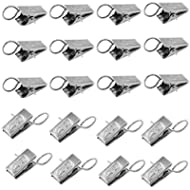 Homgaty 20X Hanging Loaded Metal Window Curtain Drapes Clip Rings Pincer Fabric Clamps by Homgaty