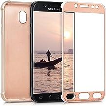 kwmobile Funda para Samsung Galaxy J5 (2017) DUOS - Case para móvil de TPU sílicona - Cover protector en Backcover en oro rosa metalizado