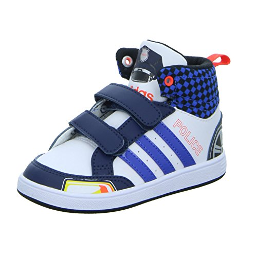 Chaussures Montantes Blanc Hoops CMF Police Bébé Garçon Adidas Blanc