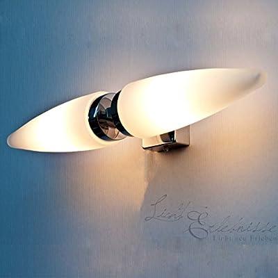 Dekorative Badleuchte Badlampe aus Chrom und Opalglas IP44 Spritzfest Spiegelleuchte Spiegellampe 5826