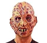 Caoutchouc masque d'horreur brûlures adultes Freddy Krueger