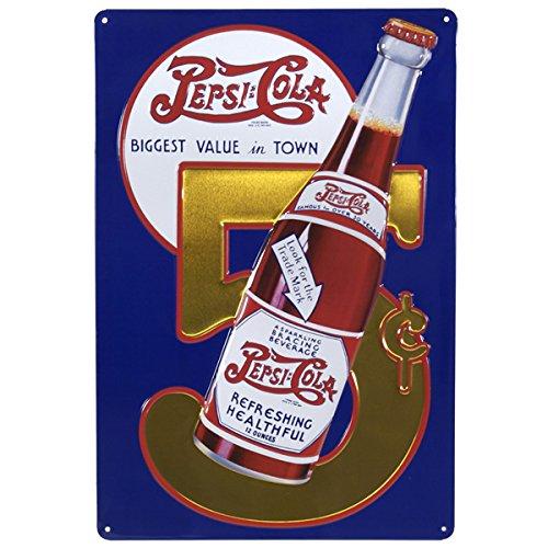 pepsi-cola-5centavos-retro-vintage-en-relieve-tin-sign